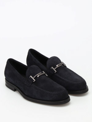 Tod'S: Loafers & Slippers online - Double T suede loafers