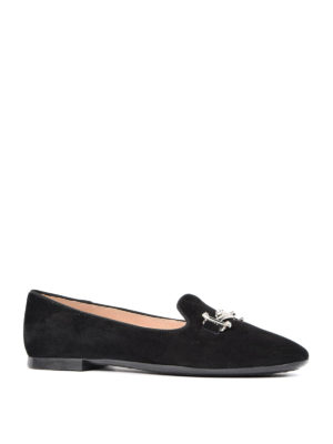 Tod'S: Loafers & Slippers online - Double T suede slippers