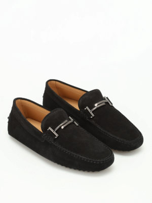 Tod'S: Loafers & Slippers online - Double T velvety nubuck loafers