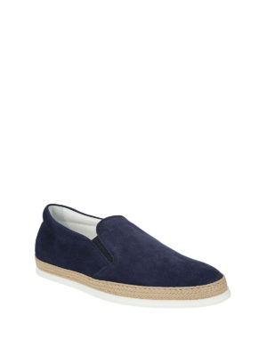 Tod'S: Loafers & Slippers online - Elasticated inserts suede slippers