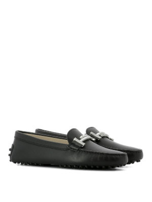 Tod'S: Loafers & Slippers online - Embellished double T loafers