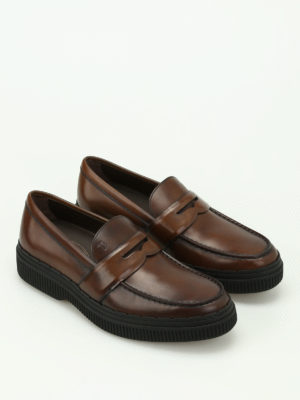 Tod'S: Loafers & Slippers online - Faded brushed leather loafers