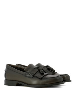 Tod'S: Loafers & Slippers online - Fringed leather loafers