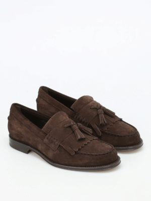 Tod'S: Loafers & Slippers online - Fringed suede loafers