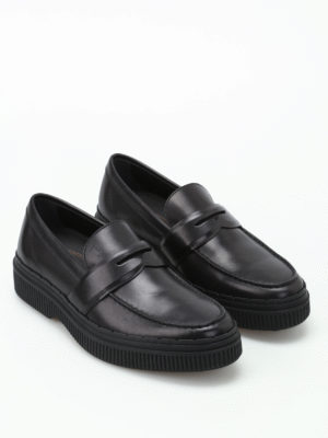 Tod'S: Loafers & Slippers online - Glossy brushed leather loafers