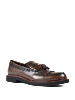 Tod'S: Loafers & Slippers online - Glossy faded leather loafers