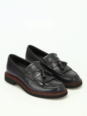 Tod'S: Loafers & Slippers online - Glossy leather loafers