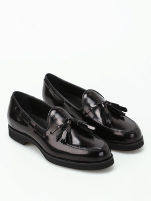 Tod'S: Loafers & Slippers online - Glossy leather loafers with tassels