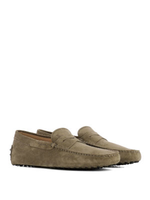 Tod'S: Loafers & Slippers online - Gommini beige suede loafers
