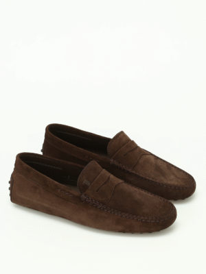 Tod'S: Loafers & Slippers online - Gommini brown suede loafers