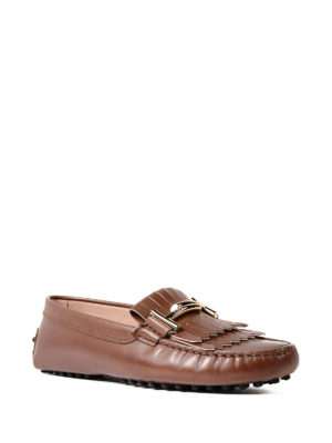 Tod'S: Loafers & Slippers online - Gommini double T leather loafers