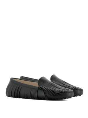 Tod'S: Loafers & Slippers online - Gommini fringe detailed loafers