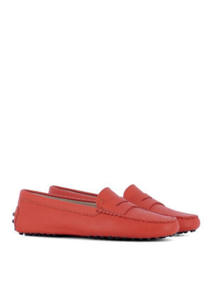Tod'S: Loafers & Slippers online - Gommini grained leather loafers
