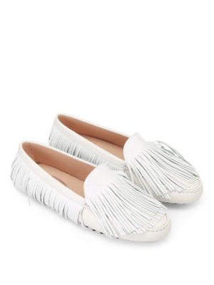 Tod'S: Loafers & Slippers online - Gommini multi fringe loafers