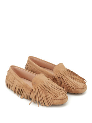 Tod'S: Loafers & Slippers online - Gommini multi fringe suede loafers