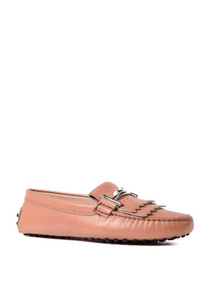 Tod'S: Loafers & Slippers online - Gommini pink leather loafers