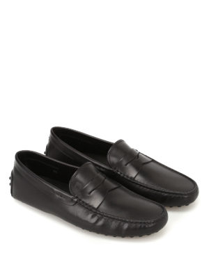 Tod'S: Loafers & Slippers online - Gommino black leather driving shoes