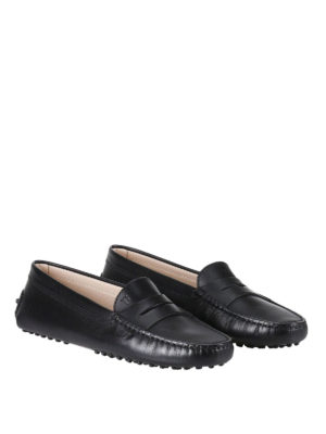 Tod'S: Loafers & Slippers online - Gommino black leather loafers