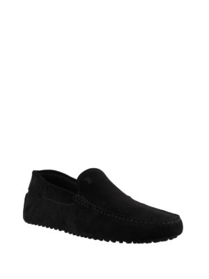 Tod'S: Loafers & Slippers online - Gommino black suede loafers