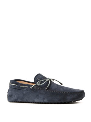 Tod'S: Loafers & Slippers online - Gommino blue suede loafers