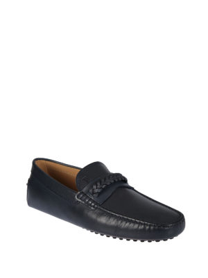 Tod'S: Loafers & Slippers online - Gommino braid detailed loafers