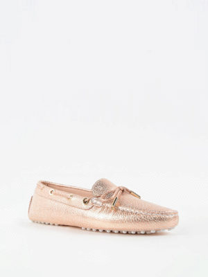 Tod'S: Loafers & Slippers online - Gommino crackle leather loafers