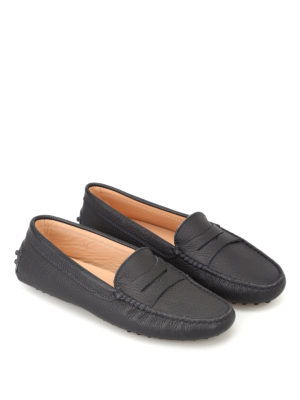 Tod'S: Loafers & Slippers online - Gommino dark blue driving shoes