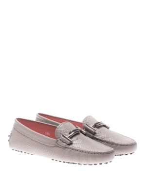Tod'S: Loafers & Slippers online - Gommino double T leather loafers