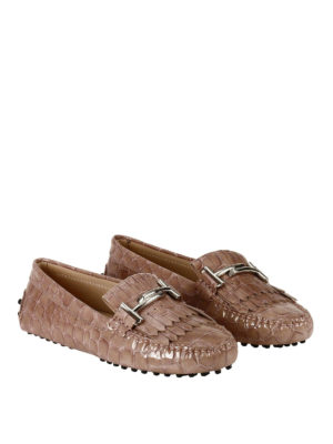 Tod'S: Loafers & Slippers online - Gommino Double T pink loafers