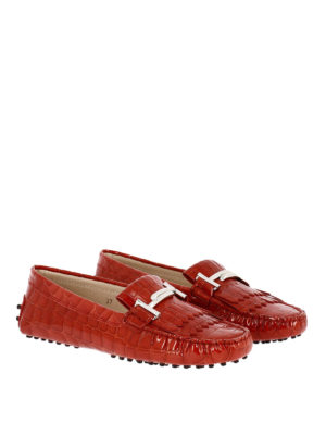 Tod'S: Loafers & Slippers online - Gommino Double T red loafers