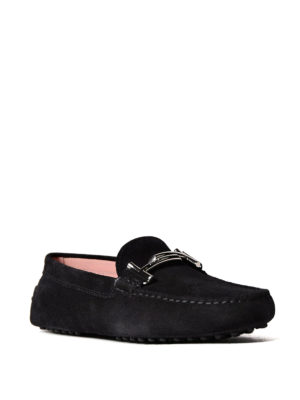 Tod'S: Loafers & Slippers online - Gommino Double T suede loafers