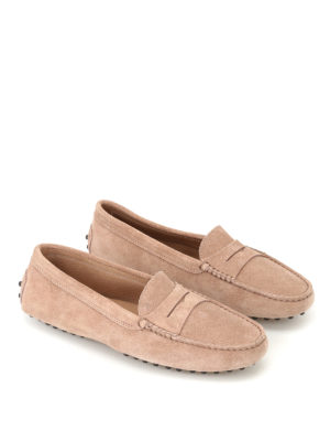 Tod'S: Loafers & Slippers online - Gommino ginger suede driving shoes