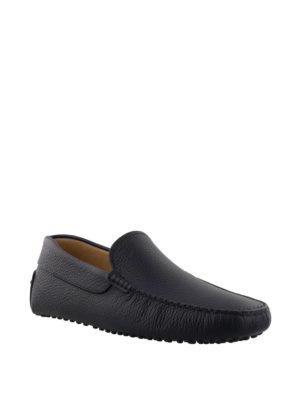 Tod'S: Loafers & Slippers online - Gommino hammered leather loafers