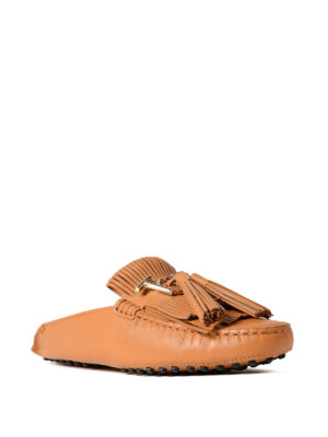 Tod'S: Loafers & Slippers online - Gommino light brown slippers