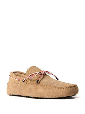 Tod'S: Loafers & Slippers online - Gommino light brown suede loafers