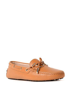 Tod'S: Loafers & Slippers online - Gommino logo leather loafers