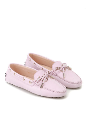 Tod'S: Loafers & Slippers online - Gommino logo pink leather loafers