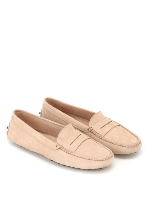 Tod'S: Loafers & Slippers online - Gommino natural suede driving shoes