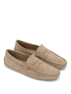 Tod'S: Loafers & Slippers online - Gommino suede driving loafers