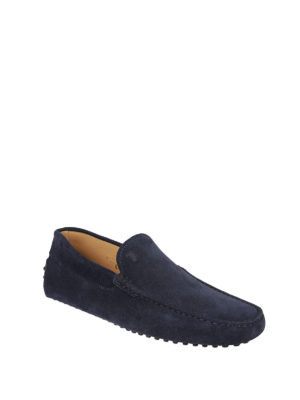 Tod'S: Loafers & Slippers online - Gommino suede logo detailed loafers