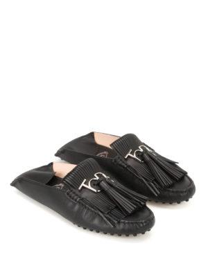 Tod'S: Loafers & Slippers online - Gommino tassels black slippers