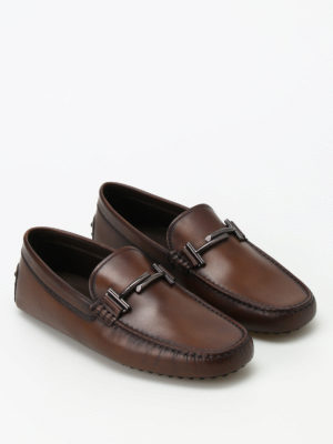 Tod'S: Loafers & Slippers online - Gommino vintage leather loafers