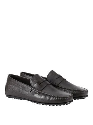 Tod'S: Loafers & Slippers online - Hammered leather City loafers