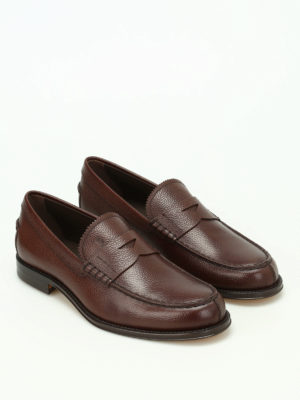 Tod'S: Loafers & Slippers online - Hammered leather classic loafers