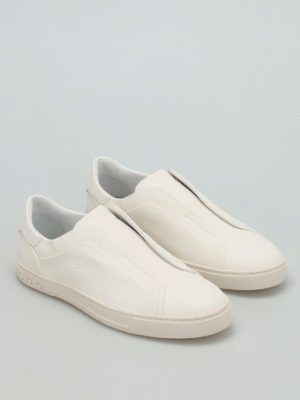 Tod'S: Loafers & Slippers online - Hammered leather slip-ons