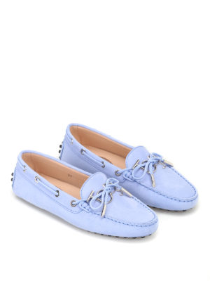 Tod'S: Loafers & Slippers online - Heaven light blue nubuck loafers
