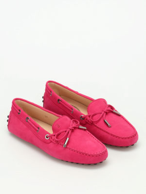 Tod'S: Loafers & Slippers online - Lace detail nubuck loafers