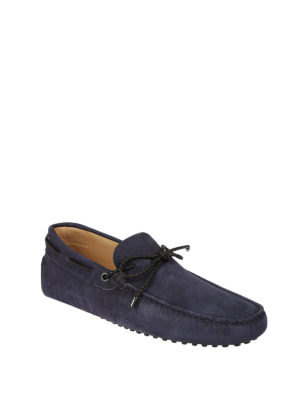 Tod'S: Loafers & Slippers online - Laces detailed nubuck loafers