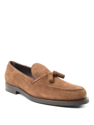 Tod'S: Loafers & Slippers online - Laces detailed suede loafers