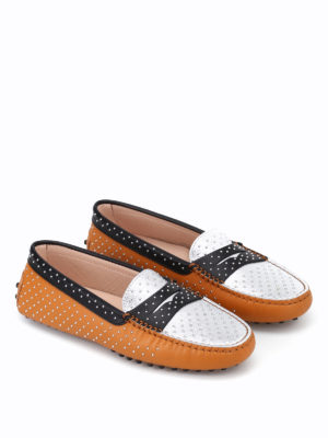 Tod'S: Loafers & Slippers online - Leather loafers with micro studs